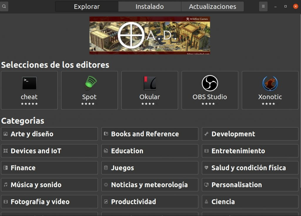 Centro de Software Ubuntu