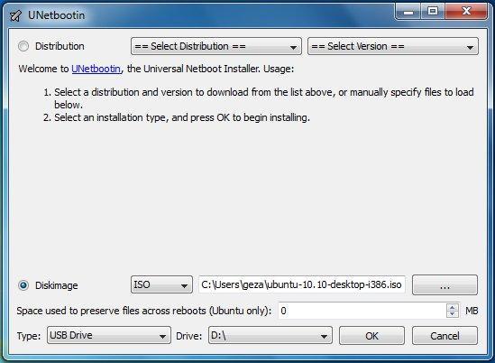Unetbotin, Windows