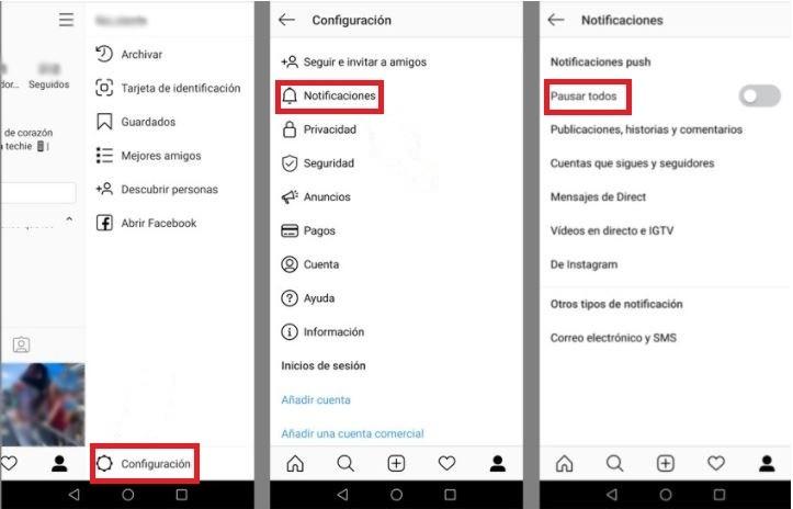 Cómo borrar notificaciones de actividad en Instagram