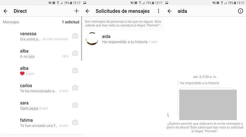Cómo ver solicitudes de mensajes en Instagram