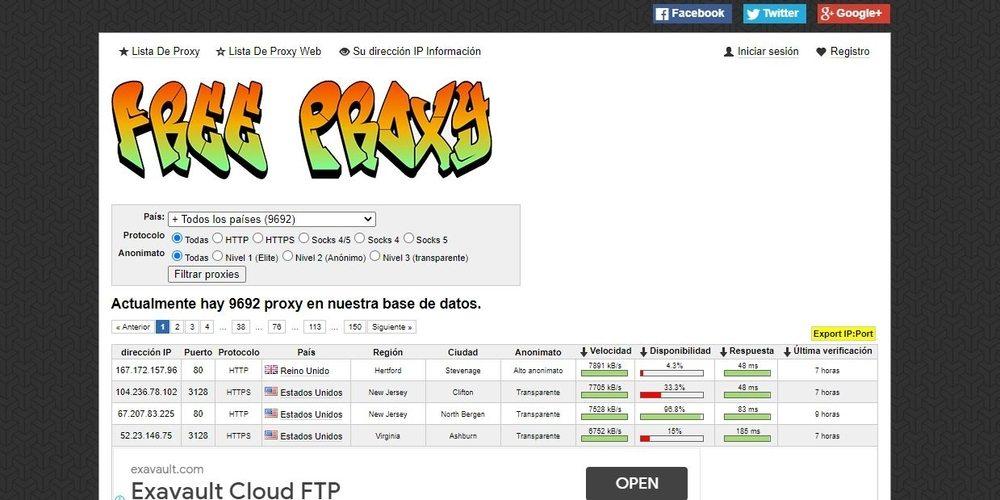 Mejores proxies gratuitos para navegar por Internet