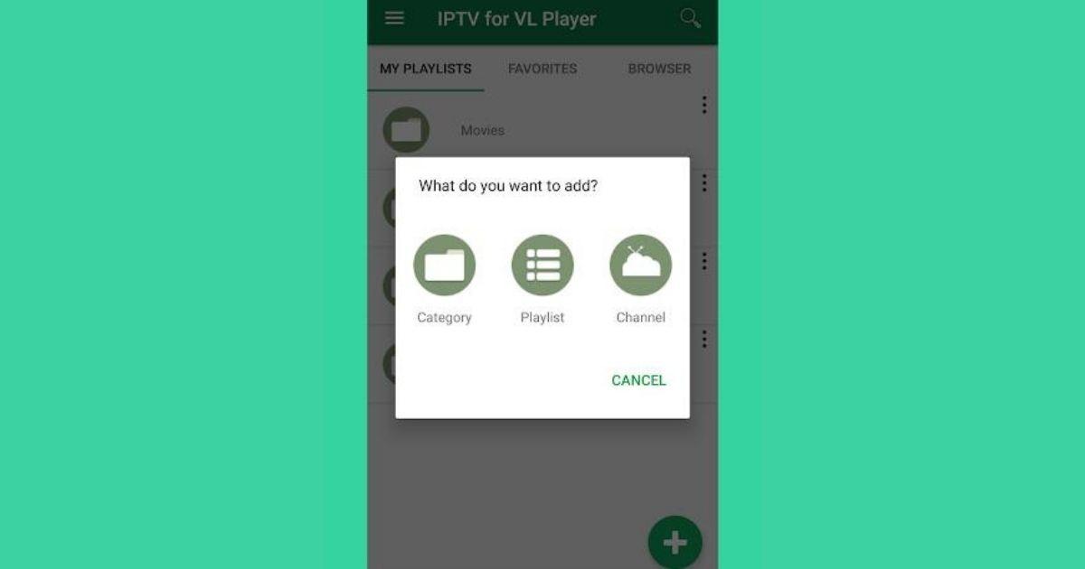 reproducir las listas en VL PLAYER IPTV